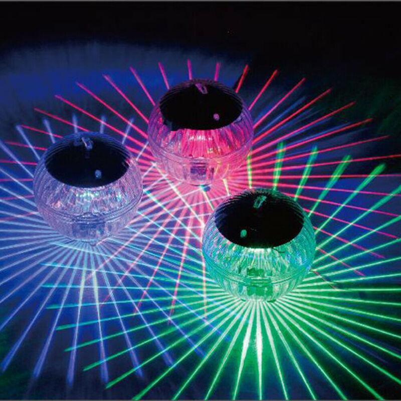 Ao ar livre Solar Luzes LED Flutuante Piscina Lagoa Do Jardim Cor Mudou de Troca Da Lâmpada LED Rotating Fontes Do Partido Brilho