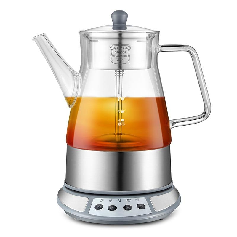 Brew tea ware black glass automatic electric kettle steam boiling pu 'er pot
