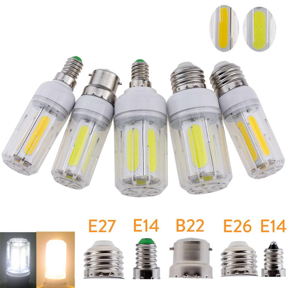 10pcs LED Corn Lamp E27 E14 E12 B22 E26 LED Light COB Corn Bulb Chandelier For Home Lighting LED Bulbs Replace Halogen 85-265V