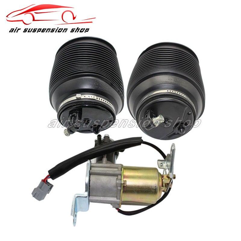 Set de bomba de compresor de Gas para suspensión neumática trasera para Toyota Land Cruiser Prado 120 Lexus GX470 4808035011 4891060020