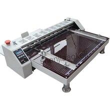 Machine de pliage de papier électrique haute vitesse papier Creaser ligne de colonne vertébrale pressé nouilles de riz unique marque découpe offset machine 220V