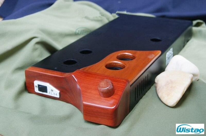 Carcasa de amplificador de tubo DIY con placa de metal de madera de pera de lujo sin incluir cubiertas y cojines de transformador estilo europeo
