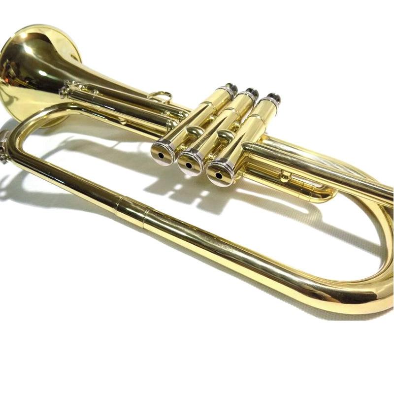 Bb Flugelhorn with case mouthpiece Yellow Brass FlugelHorn Musical Instruments enlarge