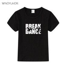 T-shirt manches courtes fille garçon   Hip-Hop, design de dessin animé, pour enfants en bas âge, vêtements de casse-danse, Tee hauts