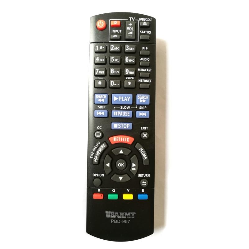 USARMT New PBD-957 Replacement Remote Control For Panasonic BLU-RAY DVD Player PBD957 DMP-BD75 DMP-BD755 Fernbedienung