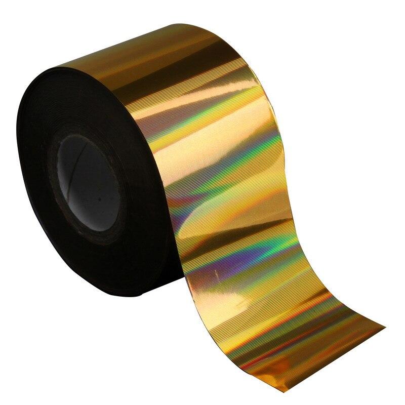 120m * 4cm decoración artística de uñas 3D Arco Iris láser de transferencia rollos de papel completo DIY belleza calcomanías para uñas salón de suministro WY293