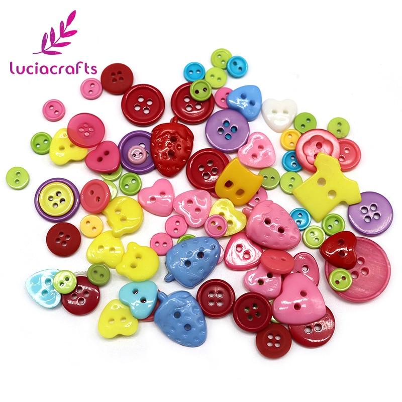 Santa Lucía de 20g de madera de resina botones de costura plana botones accesorios de ropa E0102