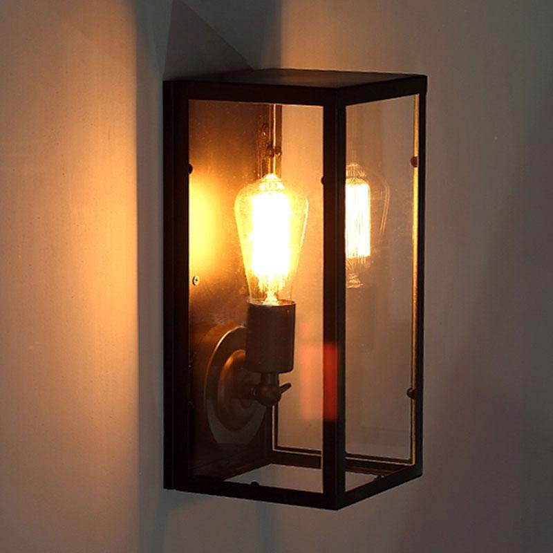 Retro loft, mesita de noche, balcón, escalera, sala, pub, restaurante, lámpara de...