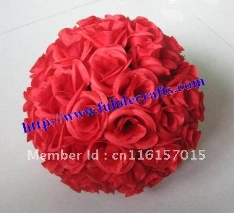 15cm red plastic inner wedding flower ball