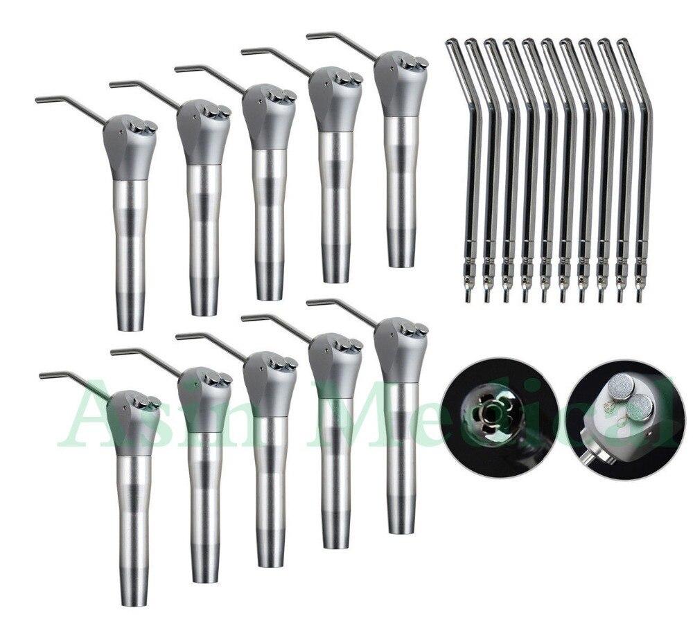 10 jeringuilla Dental de aire y agua 3 vías Triple jeringa + 20 boquillas tubo de puntas de aire y agua para 3 vías Triple