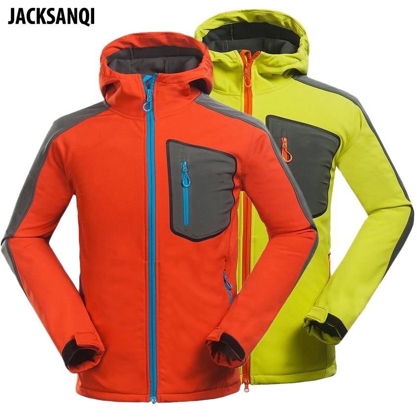 JACKSANQI chaquetas Softshell para exteriores para hombre, abrigos térmicos de lana para invierno, senderismo, escalada, senderismo, deportes de esquí, rompevientos para hombre RA177
