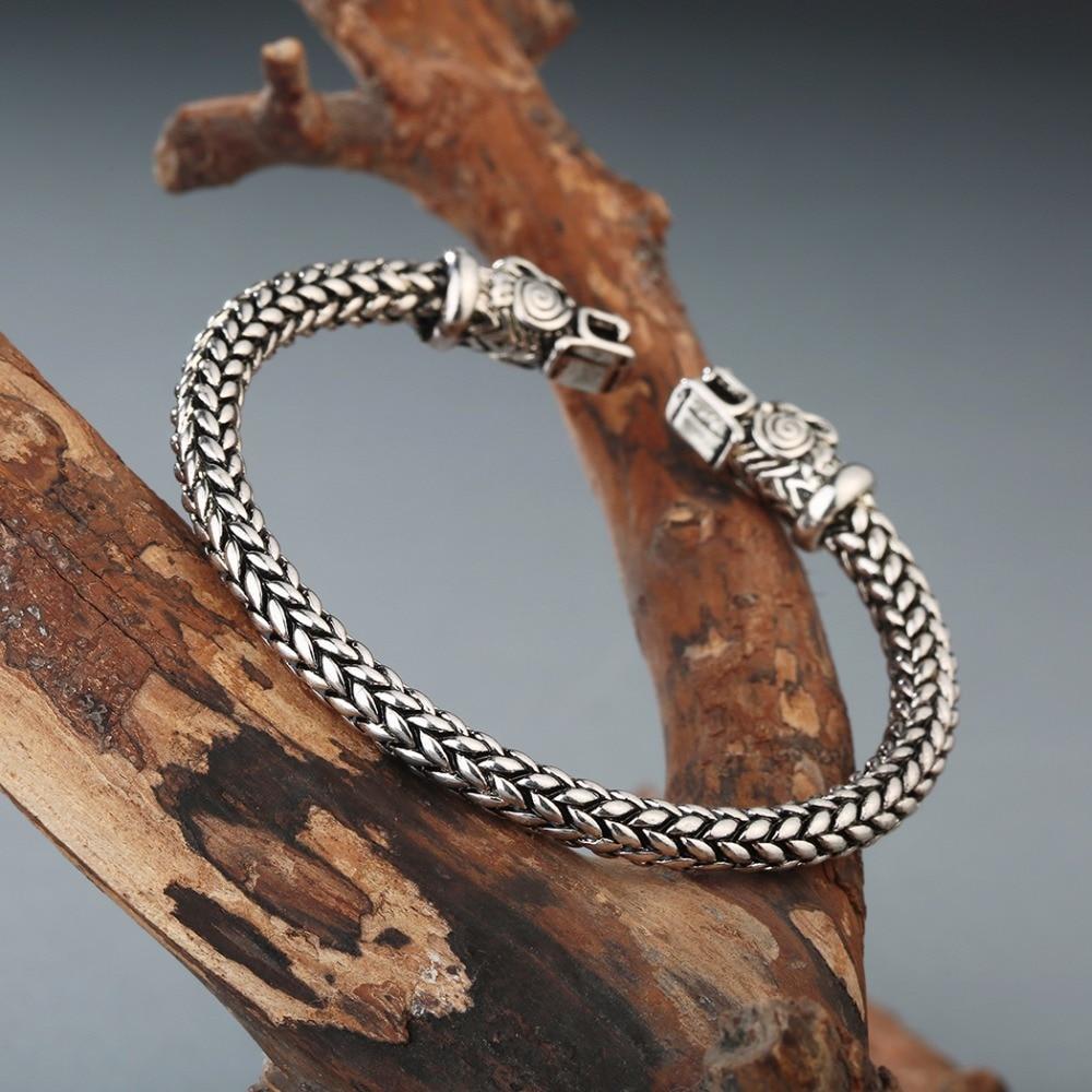 CHENGXUN Gold  Color Dragon Screw Nail Bracelet Viking Bangle Cuff Gothic Charm Knot Bracelet Men Gift Boyfriend Pub