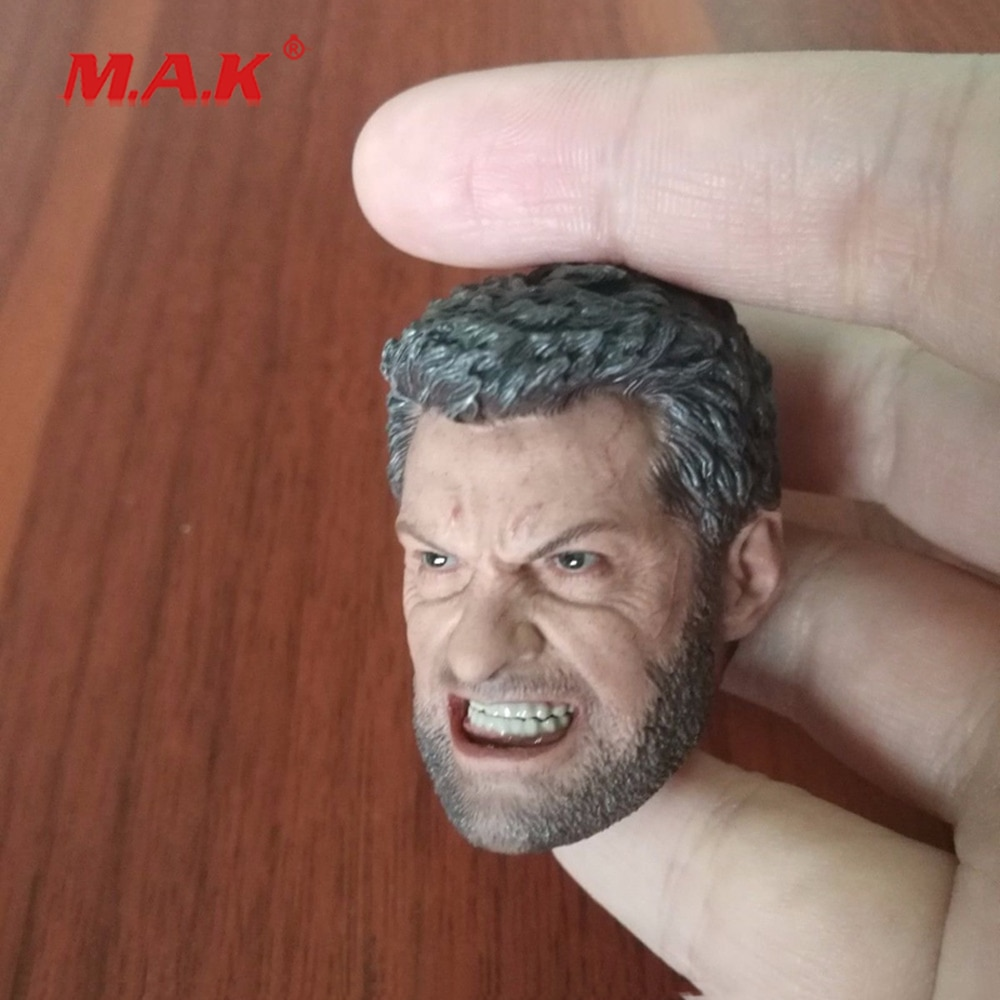 New 1:6 Scale Wolf Head Carving Model in Angry Version Head Sculpt fit 12 Action Figure for Collection in stock gc018 1 6 scale beauty european girl head sculpt ivanka trump head carving toy 4 styles for 1 6 female action figure