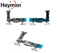 Heyman الكابلات المرنة لسامسونج G900T غالاكسي S5 قطع غيار الكابل المسطح (موصل الشحن ، مع مكونات)