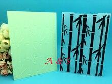 Carte de papier en bambou   Dossier de gaufrage en plastique pour Album à faire-carte soi-même, modèle denveloppe de cadre dalbum, modèle de décoration