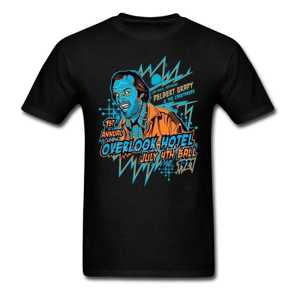 Camiseta de manga corta para hombre de Overlook Hotel The Shining, camiseta de manga corta talla grande y, camisetas divertidas de algodón y cuello redondo para grupo de Pp