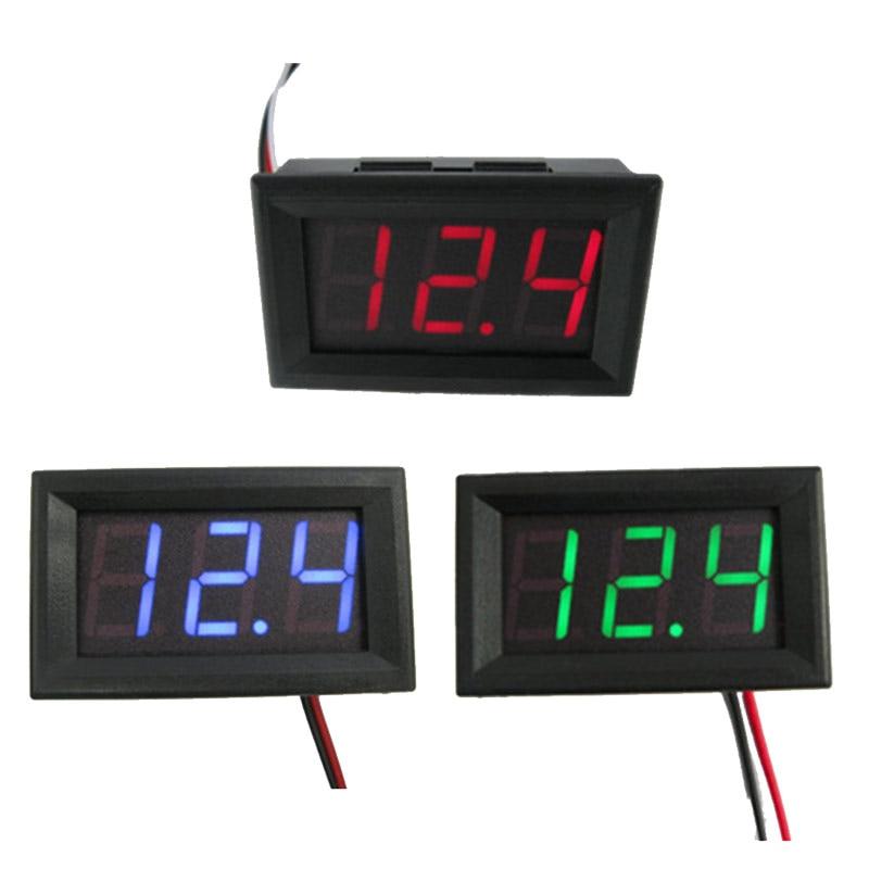 """Urijk 1pc DC4.5V-30.0V Digital Voltage Meters Panel Volt Current Voltage Detector Battery Tester 0.56"""" Voltmeter Ammeter Charger"""