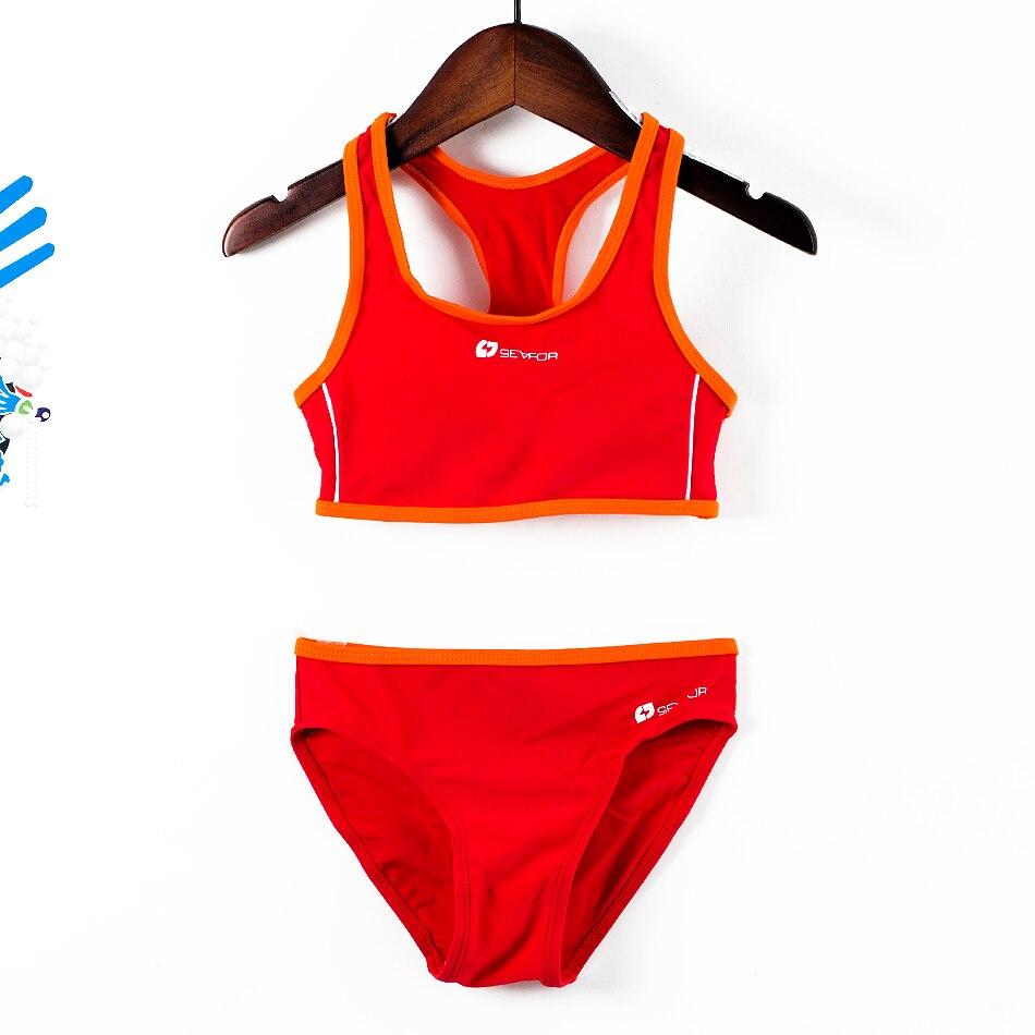Новинка 2018 для девочек спортивные костюмы плавания Разделение купальные