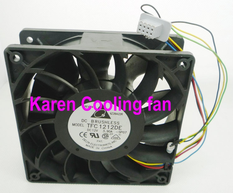 DELTA 12038 12v 3.9a TFC1212DE ventilador de refrigeración de 12cm