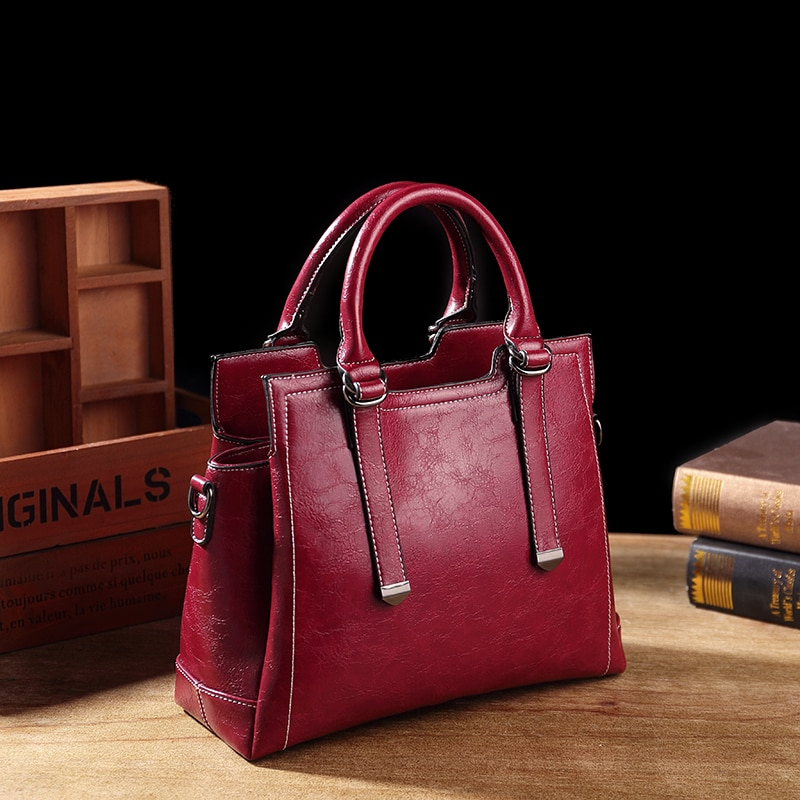 Genuine Leather Bag Ladies Handbag Luxury famous brand designer original leather Women's Handbag Tote Ladies Vintage Female T63
