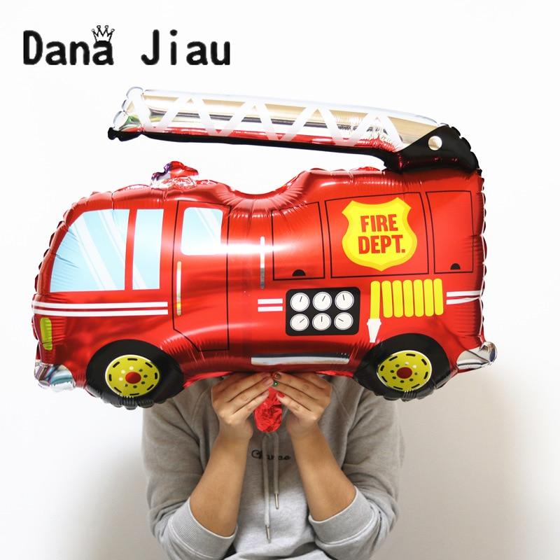 Nuevo globo de papel de aluminio de coche de bomberos grande de 80*87 cm, regalo de héroe para niños, decoración de fiesta de cumpleaños, vacaciones, tanque de dibujos animados, autobús, avión, globos de ambulancia