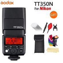 GODOX TT350N pour appareil photo Nikon 2.4G HSS 1/8000s TTL GN36 Flash Speedlite + diffuseur + LED CONXTRUE USB cadeau gratuit