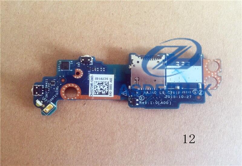 Placa original DELL Para 5175 power switch botton AAJA0 LS-C791P 0G72MR G72MR V242J 0V242J 100% teste ok