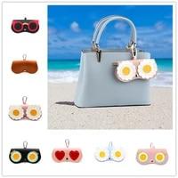 2019 pu leather cartoon cute travel protection carry sunglasses box cover women sun eye glasses box bag case eyewear accessoires