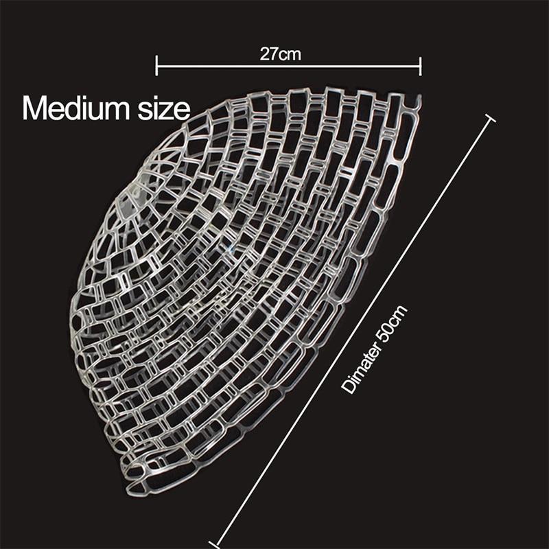 FNN01 High Quality Clear Fly Fishing Landing Net Diameter 50/60cm Replaceable Rubber Fishing Net enlarge