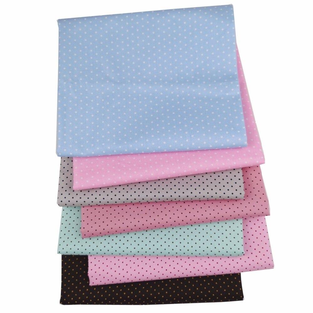 40*50CM 7 Uds. Puntos 100% tela de algodón Paquete de cuarto grueso DIY Telas costura Patchwork muñeca de bebé acolchado ropa de cama textil tecido