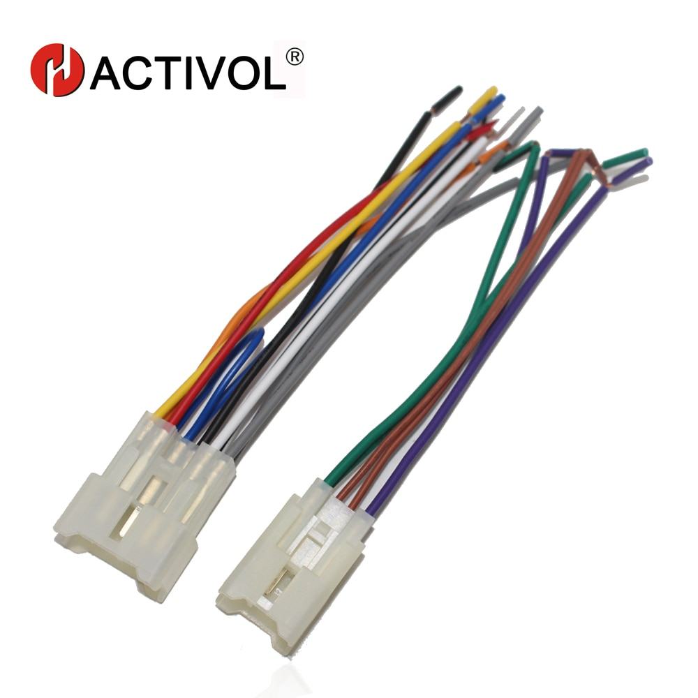 Car Radio Stereo Female ISO Plug Power Adapter Wiring Harness Special for Toyota Universal ISO harness power cable