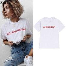 Comme réaliser des choses rouge impression femmes t-shirt coton décontracté drôle t-shirt pour dame haut pour fille t-shirt Hipster Tumblr livraison directe Z-1007