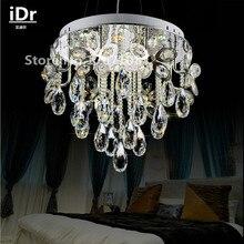 Lustres modernes en cristal, pendentif rond en cristal lampe de chambre à coucher minimaliste éclairage créatif lampe de luxe projecteurs