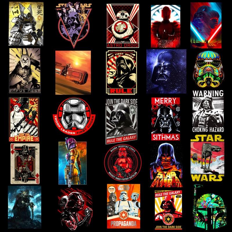 50 pcs/set Star Wars Classic Fashion Style Graffiti Stickers For Moto car & suitcase cool laptop stickers Skateboard sticker