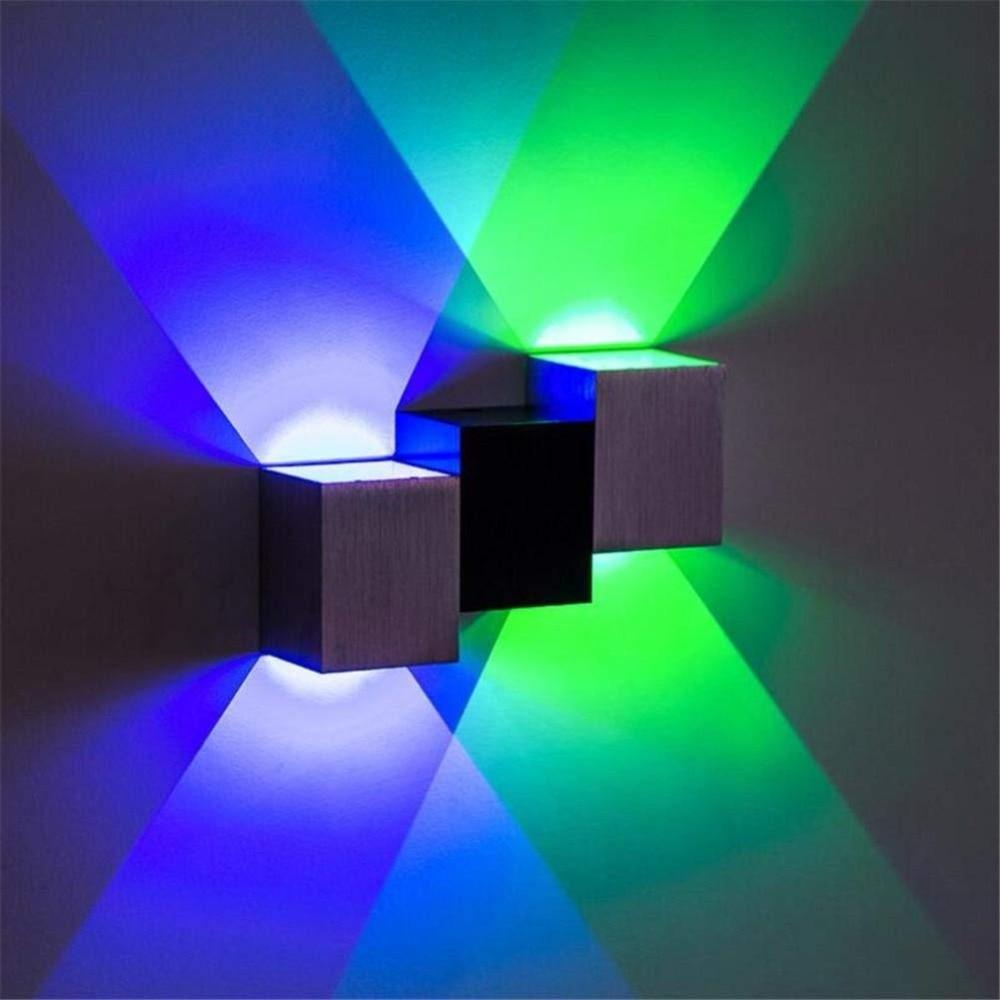 Wall Lights Modern Aluminum 4W Up Down LED Wall Lights Wall Lamp Wall Sconce Hallway Bedroom KTV Indoor Lighting Multiple Colo