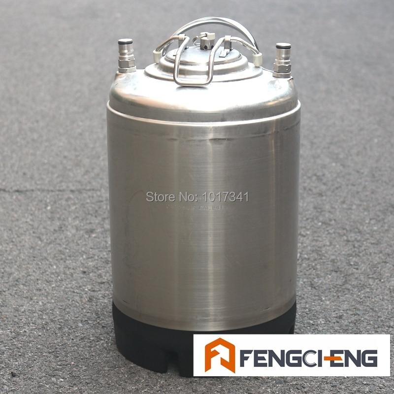 Reacondicionado, 2,5 Gal, barril de bloqueo de bola Cornelius, probado a presión, nueva tapa/válvula de alivio de presión/o-ring/postes, barril de cerveza usado