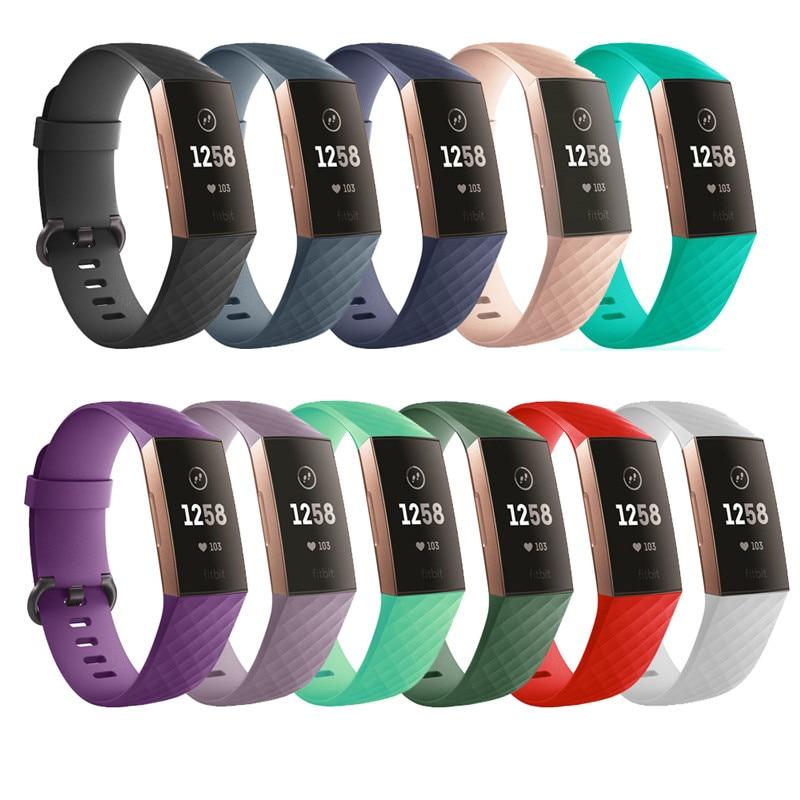 Силиконовый сменный смарт-браслет с 3 ремешками для зарядки 4 для Fitbit Charge 3 Band Wristband Belt Fitbit band