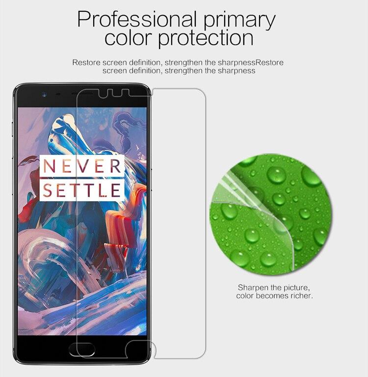 NILLKIN – protecteur d'écran pour OnePlus 3T, Film de protection pour animaux de compagnie, transparent/mat, Anti-empreinte digitale