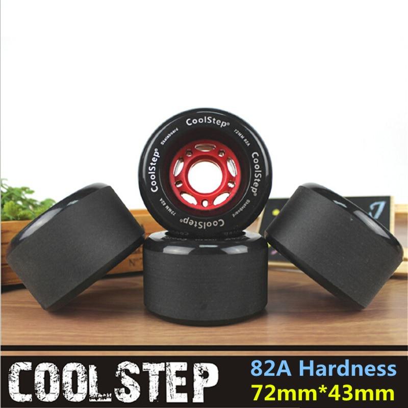 Скейтборд Rodas 82A, 4 шт./лот, с матовой поверхностью, 72 мм, 70 мм, диаметр, черный, длинный, дрифт, аксессуары