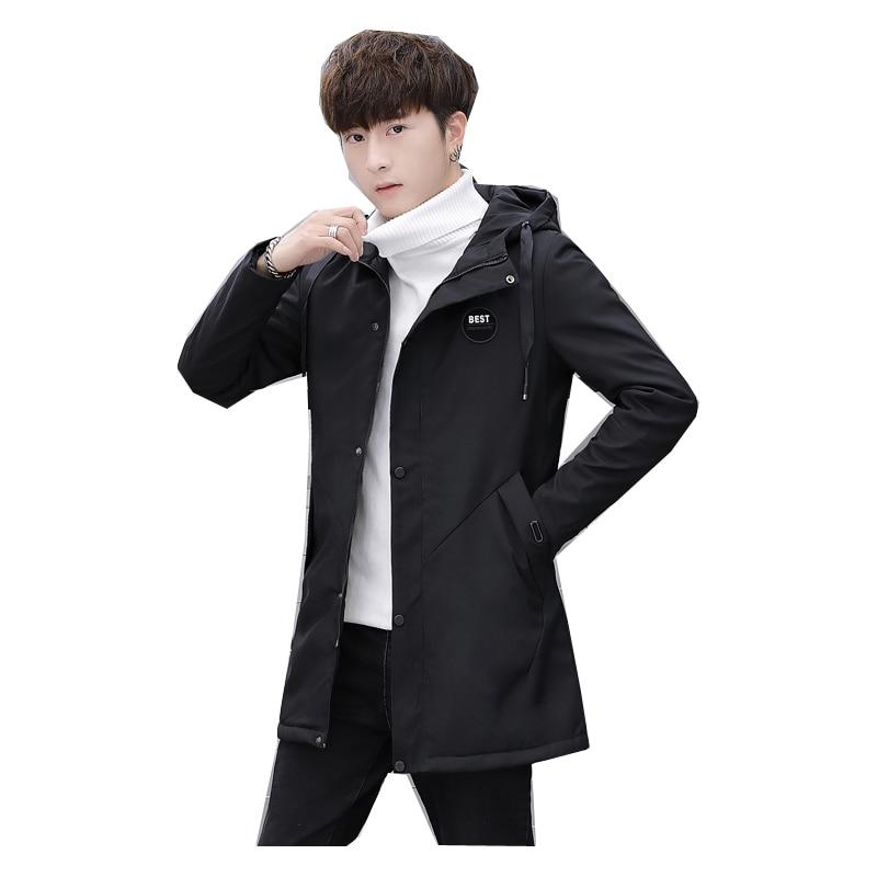Fashion Winter Men 's Cashmere Warm Jacket Hoodie Trench Coat men plus velvet thickening plus Winter Warm Hood  JK77
