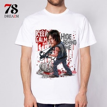Mode 2017 été T-shirt The Walking Dead no hope hommes t shirt rise up top t-shirts mâle negan the walk dead