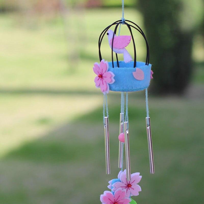 Bonito Paquete de fieltro de costura DIY, fieltro no tejido de flores y pájaros, decoración de fiesta para el hogar DIY