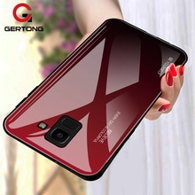 Tempered Glass Case For Samsung Galaxy J4 J6 Plus J8 2018 A6 A8 Plus A7 2018 A5 2017 Luxury Phone Co