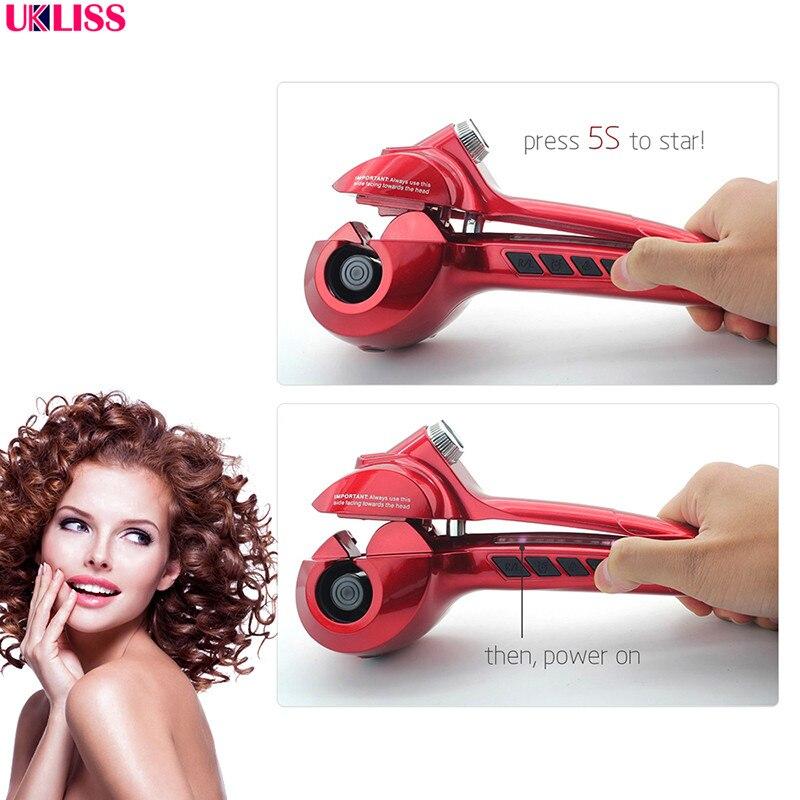Автоматическая Плойка для завивки волос со светодиодной подсветкой, паровые бигуди для завивки волос, пароварка для завивки волос, стайлер для завивки
