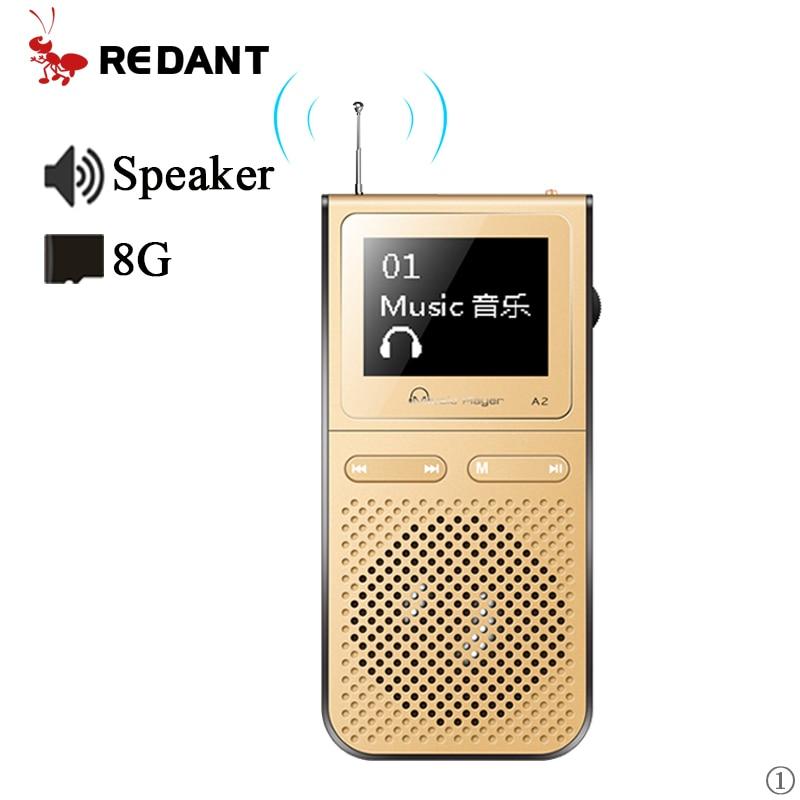 Reproductor de MP3 con altavoces integrados que pueden reproducir 100 horas. Altavoz USB londspeaker mp 3 reproductor portátil con radio fm MP-3 walkman