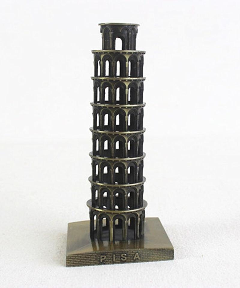 Torre Inclinada italiana de gran calidad de Pisa monumento famoso mundialmente modelo de Metal manualidades decorativas turismo colección souvenirs regalos