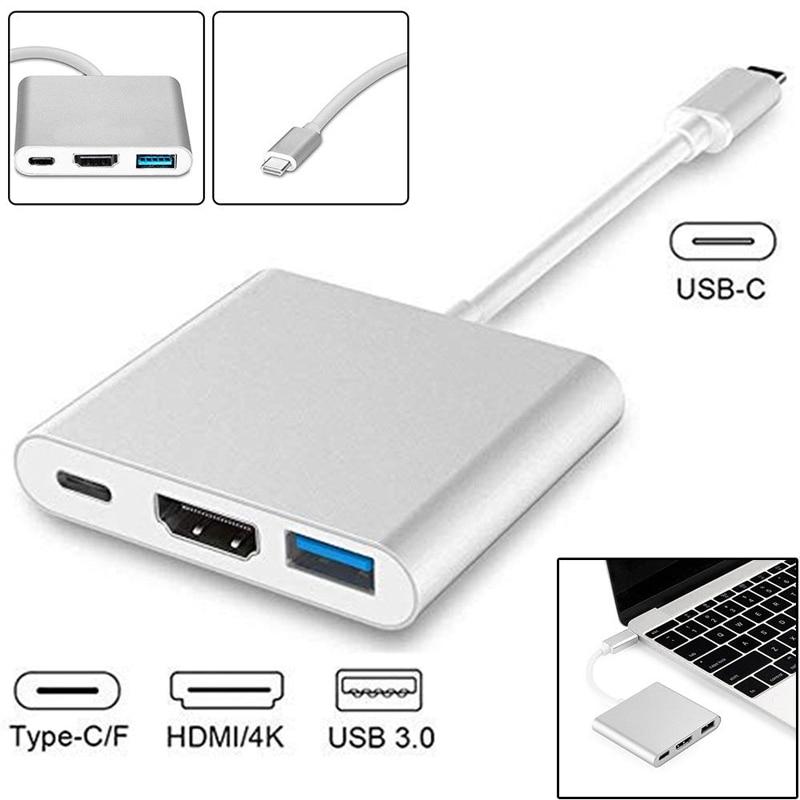 Cable de carga 3 en 1 para Macbook, Samsung y Android, USB...