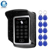 RFID clavier système de contrôle daccès clavier   Couvercle étanche pour lextérieur 10 pièces EM4100/TK4100 clavier ouvre-porte pour système de verrouillage à domicile