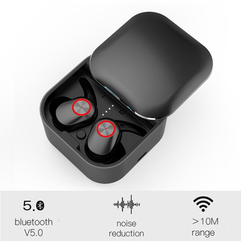 Auriculares TWS, auriculares inalámbricos con doble bluetooth 5,0 EDR, auriculares estéreo a prueba de agua para deportes, diseño ergonómico, nuevo