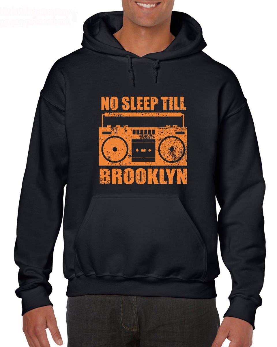 Caliente de 2019 de algodón de moda de hombres No dormir hasta Brooklyn, Nueva York, Ny 80S Mtv Cd cinta sudaderas con capucha de Rap sudaderas